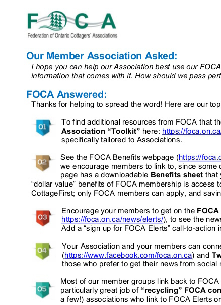 PDF - Associations use FOCA resources
