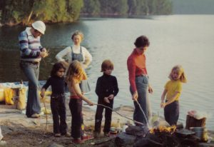 Image: picnic point, Lake Solitaire 1970s