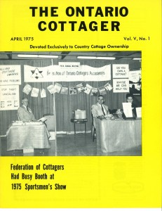 The Ontario Cottager April 1975 cover