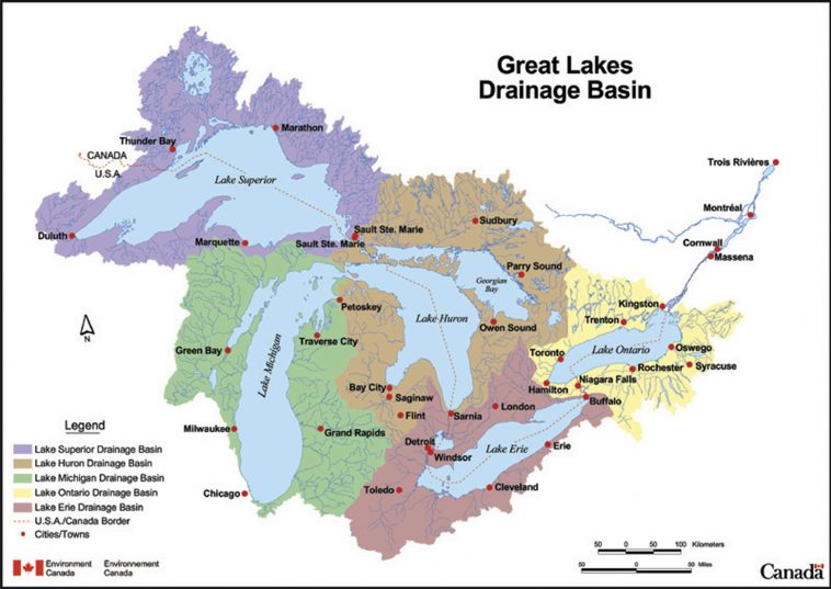 Lakes Of Canada Map.New Canada Ontario Great Lakes Agreement Foca