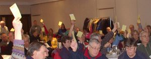 Those in Favour Voting AGM 2012