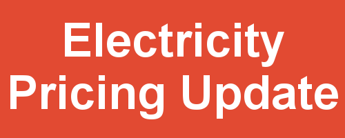banner image: Electricity Pricing Update