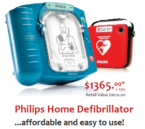 image of a Philips Home Defibrillator